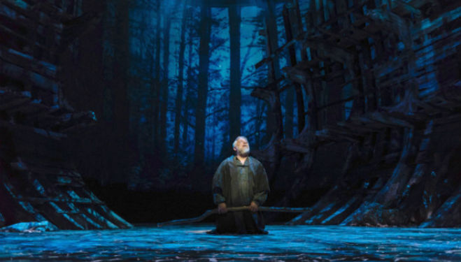 Simon Russell Beale as Prospero; The Tempest, RSC. Photo by Topher McGrillis