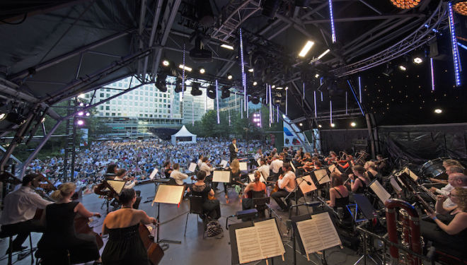 Grab a picnic and head for a free open air concert by the world-famous players