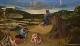 NG726  Giovanni Bellini  The Agony in the Garden  about 1465  Egg on wood  81.3 x 127 cm  © The National Gallery, London