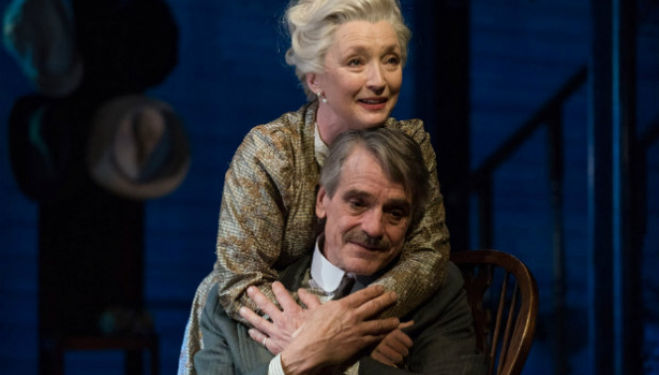 Lesley Manville and Jeremy Irons in Long Day's Journey Into Night at Bristol Old Vic. Photo by Hugo Glendinning