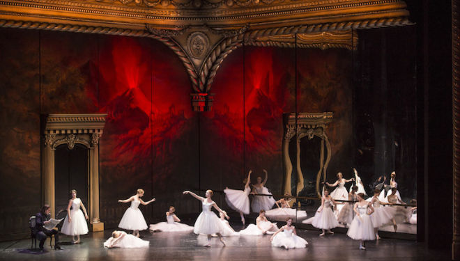 Spectacular dancing contrasts with intrigue and combat in this lavish production of Verdi's opera. Photo: Bill Cooper