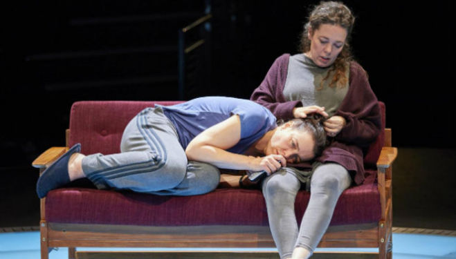 Olivia Williams and Olivia Coleman in Mosquitoes, National Theatre