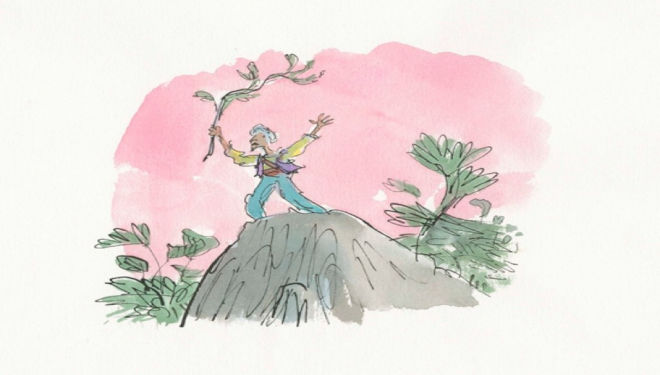 Sinbad from The Seven Voyages of Sinbad the Sailor, Pavilion Books 1996 (c) Quentin Blake