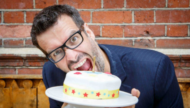 Marcus Brigstocke: There Will Be Cake. Photo by Peter Jones Photography