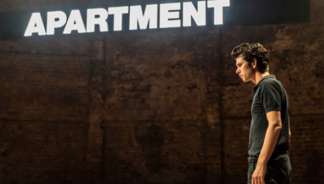 Ben Whishaw in Against, Almeida Theatre. Photo by Johan Persson.
