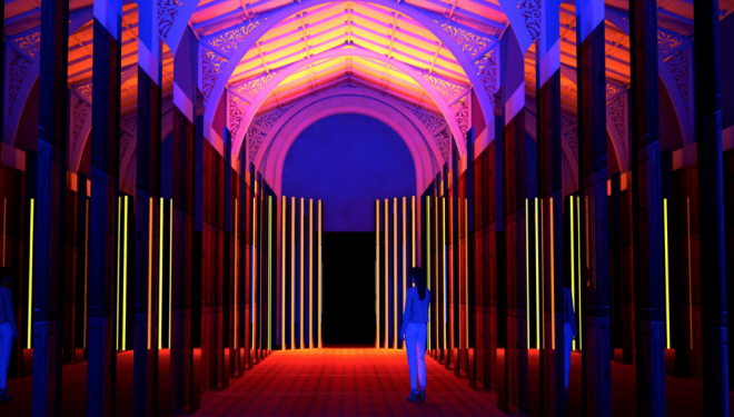 Where to go on a date in London: The reflection room at the V&A glows with promise