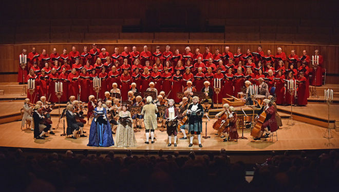 Handel's Messiah performed by singers and players in 18th-century dress