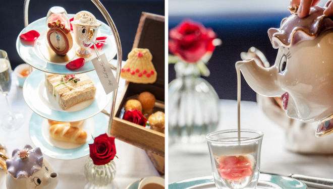 Indulge in a magical Beauty and the Beast afternoon tea at the Kensington Hotel