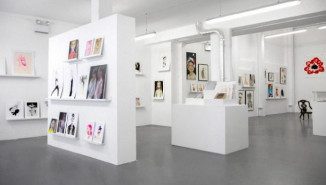 SHOWstudio's little space for fashion illustration, a fashionable London pop up
