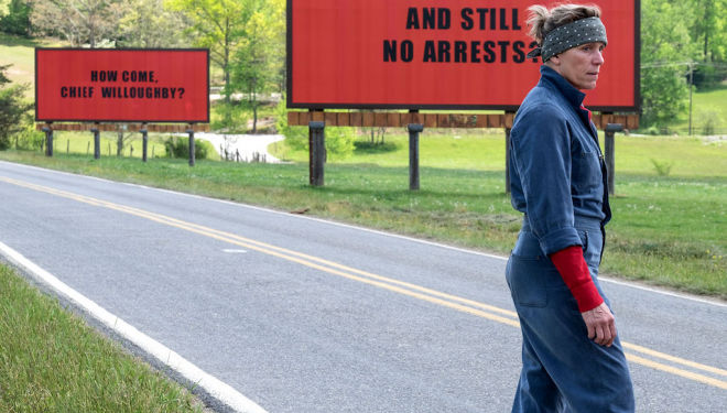 4 Golden Globes: Three Billboards Outside Ebbing, Missouri
