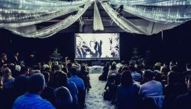 Pop Up Screens host Cinema in the Snow at the Hackney Showroom