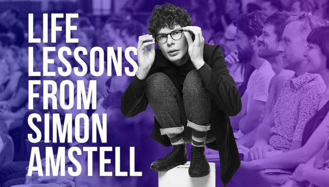 Explore the mind of Simon Amstell in this event by The School of Life
