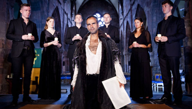 Gerald Kyd plays the murderous composer Gesualdo in Breaking the Rules, at Baroque on the Edge. Photo: Robin Mitchell