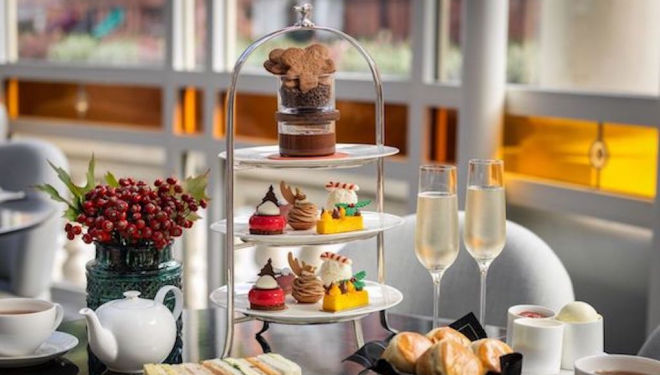 The Connaught's first festive afternoon tea