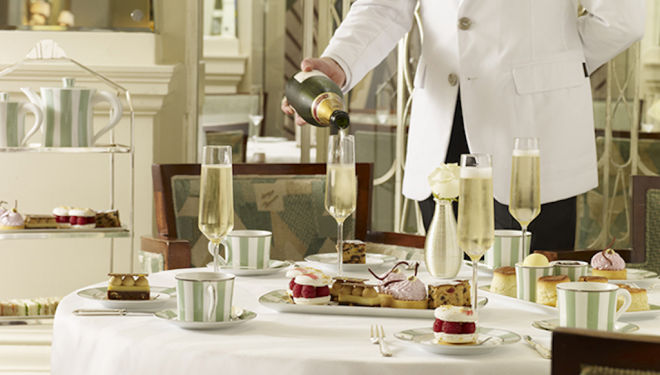 Champagne and Carols at Claridge's Christmas Afternoon Tea