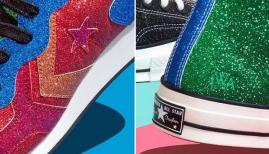 Glittery Chuck Taylors from the JW Anderson collaboration with Converse