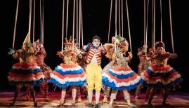Joe Idris-Roberts as Pinocchio, National Theatre. Photo Credit: Manuel Harlan