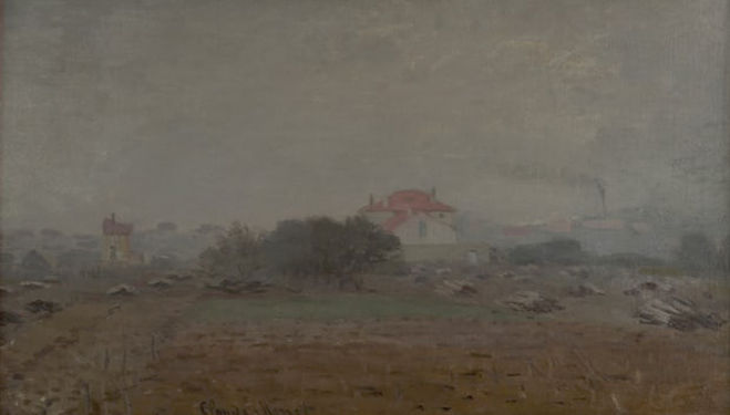 Monet, Effet de Brouillard, 1872. Photograph: Joseph D Conté and Lynn Von Freter Conté/Photo courtesy of the owner