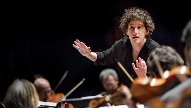 Rebecca Miller conducts Pearl of Freedom. Photo: Richard Haughton