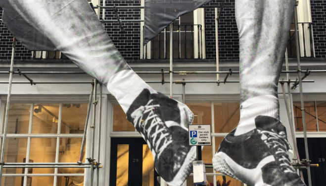 Giant Installation by JR outside Lazinc gallery, London