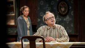 Zoë Wanamaker and Toby Jones: The Birthday Party, Harold Pinter Theatre review. Photo by Johan Persson