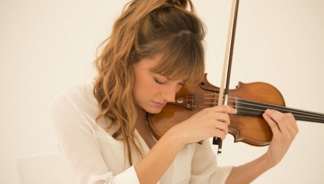Violinist Nicola Benedetti is ambassador for the BBC Young Musician of the Year competition, 40 years old this year. Photo: Simon Fowler