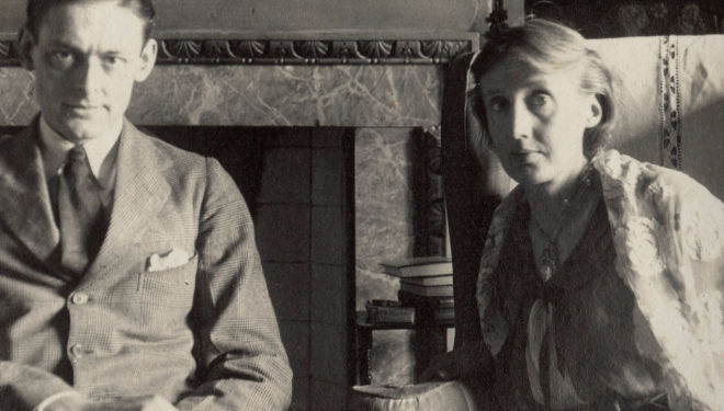 T.S. Eliot and Virginia Woolf by Lady Ottoline Morrell, June 1924, Copyright: National Portrait Gallery, London