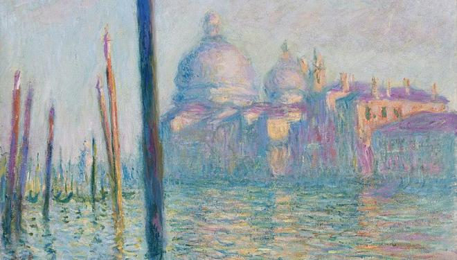 Detail from Claude Monet, 'The Grand Canal (Le Grand Canal)', 1908 © Fine Arts Museums of San Francisco. Gift of Osgood Hooker 1960.29​