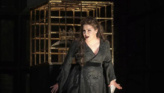 Anna Netrebko sings Lady Macbeth at some performances of Verdi's opera. Photo: Bill Cooper
