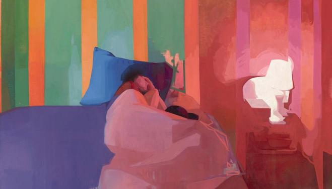 BP Portrait Award 2018: Felicia Forte, Time Traveller, Matthew Napping, 2017