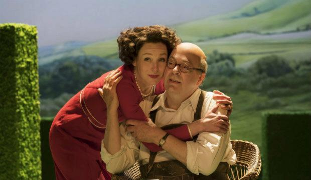 Nancy Carroll and Roger Allam in The Moderate Soprano, Duke of York's Theatre.
