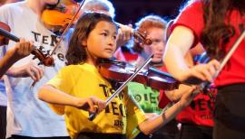 Young players get to know classical music from the inside. Photo: Pete Dadds