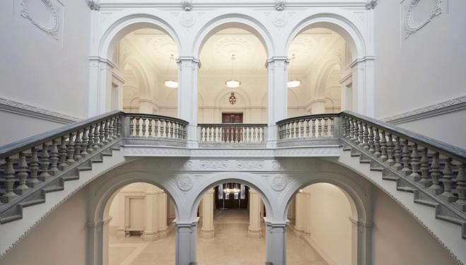 The New Royal Academy of Arts: The Wohl Entrance Hall. C. Rory Mulvey