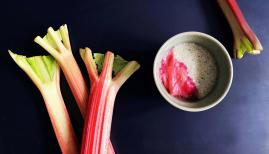 Simple + Healthy Chia Pudding and Stewed Rhubarb recipe