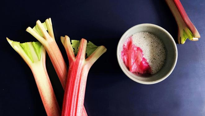 Simple + Healthy recipe: Chia Pudding and Stewed Rhubarb