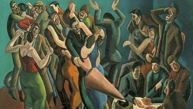 William Roberts 'The Dance Club (The Jazz Party)', 1923