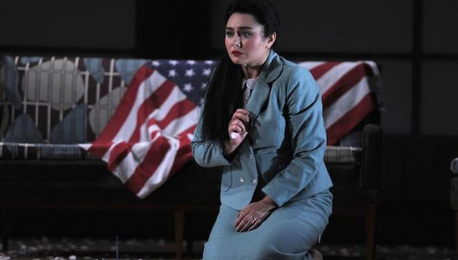 Cio-Cio-San (Olga Busuioc) adopts American ways in Madama Butterfly. Photo: Robbie Jack