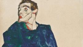 Egon Schiele, Detail: The Caller, 1913. C. Callimanopulos Collection.