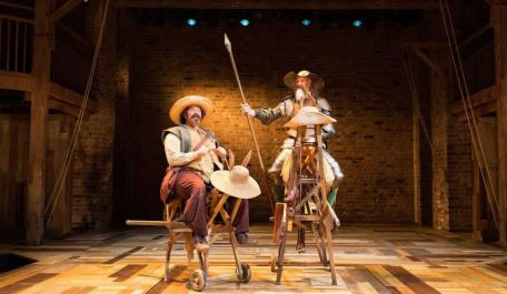 David Trelfall and Rufus Hound in Don Quixote from the Original 2016 production at the Swan Theatre Photo by Helen Maybanks © RSC