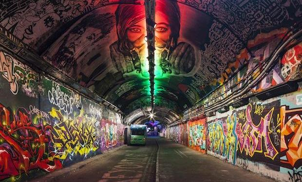 This is what's happening at the launch of Leake Street Arches