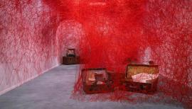 Chiharu Shiota, Turning World by, 2018. Photography: Peter Mallet. Courtesy BlainlSouthern