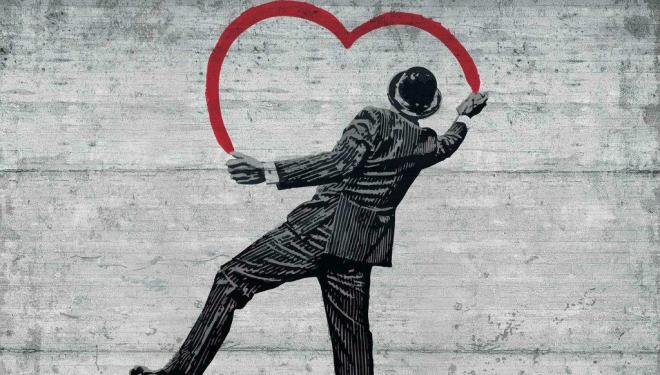 Banksy street art, London