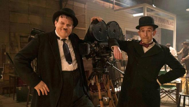John C. Reilly and Steve Coogan as Laurel & Hardy