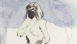Tracey Emin, I think of You. Lithograph in two colours on Somerset 300 gsm paper. Image Courtesy of Tanya Baxter Fine Art