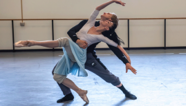 Natalia Osipova, David Hallberg in rehearsal for Pure Dance, photo Stephanie Berger
