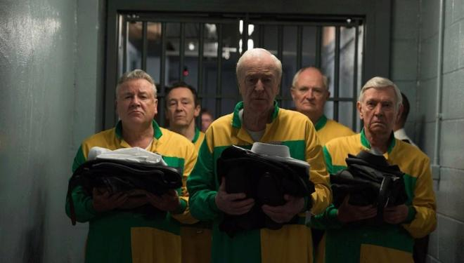Michael Caine, Ray Winstone, Paul Whitehouse, Jim Broadbent, and Tom Courtenay in King of Thieves