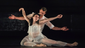 Pure Dance, Natalia Osipova and Jonathan Goddard in Flutter by Ivan Pérez, photo Johan Persson
