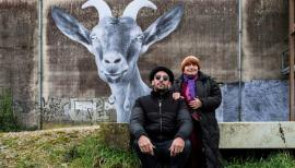JR and Agnès Varda in Faces Places