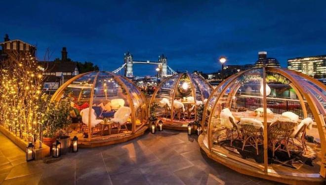 Coppa Club's iconic Christmas riverside igloos