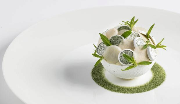Clare Smyth's pear and verbena dessert